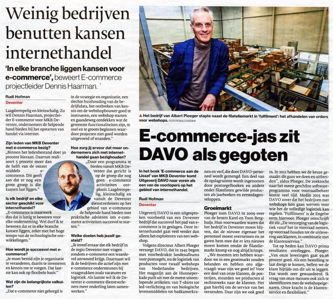 DAVO met een artikel in de krant